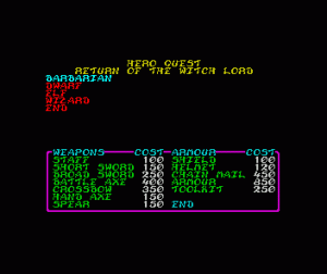 Hero Quest: Return of the Witch Lord per Sinclair ZX Spectrum