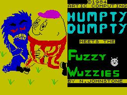 Humpty Dumpty meets the Fuzzy Wuzzies per Sinclair ZX Spectrum