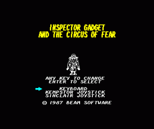 Inspector Gadget and the Circus of Fear per Sinclair ZX Spectrum