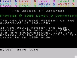 Jewels of Darkness per Sinclair ZX Spectrum