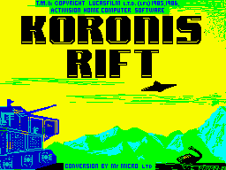 Koronis Rift per Sinclair ZX Spectrum
