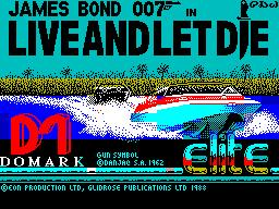 Live and Let Die per Sinclair ZX Spectrum