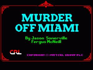 Murder Off Miami per Sinclair ZX Spectrum