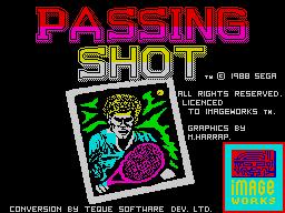 Passing Shot per Sinclair ZX Spectrum