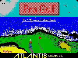 Pro Golf Simulator per Sinclair ZX Spectrum
