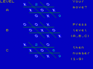 3-D Noughts and Crosses per Sinclair ZX Spectrum