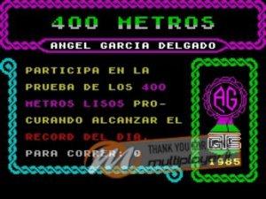 400 Metros per Sinclair ZX Spectrum