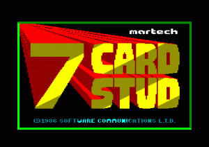 7 Card Stud per Sinclair ZX Spectrum