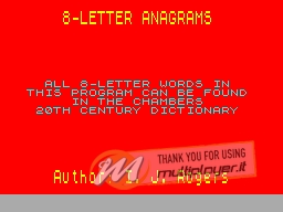 8-Letter Anagrams per Sinclair ZX Spectrum