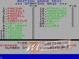 World of Grand Prix Racing 2 per Sinclair ZX Spectrum