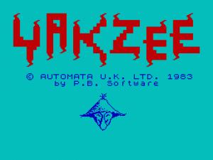 Yakzee! per Sinclair ZX Spectrum
