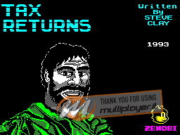 Tax Returns per Sinclair ZX Spectrum