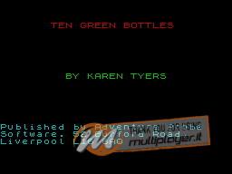 Ten Green Bottles per Sinclair ZX Spectrum