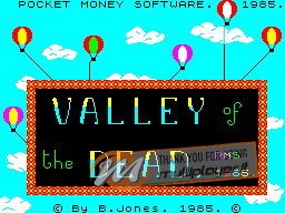 Valley of the Dead per Sinclair ZX Spectrum