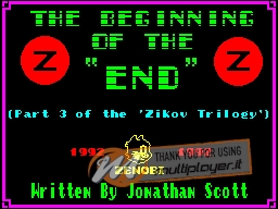 The Beginning of the End per Sinclair ZX Spectrum