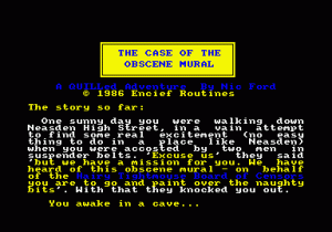 The Case of the Obscene Mural per Sinclair ZX Spectrum