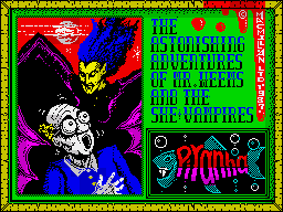The Astonishing Adventures of Mr. Weems and the She Vampires per Sinclair ZX Spectrum
