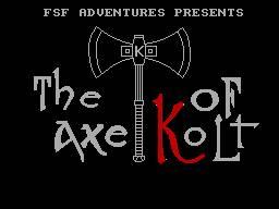 The Axe of Kolt per Sinclair ZX Spectrum