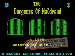The Dungeons of Maldread per Sinclair ZX Spectrum