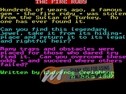 The Fire Ruby per Sinclair ZX Spectrum
