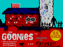 The Goonies per Sinclair ZX Spectrum