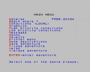 The Graphic Adventure Creator per Sinclair ZX Spectrum