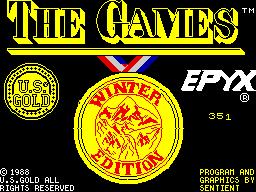 The Games: Winter Edition per Sinclair ZX Spectrum