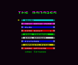 The Manager per Sinclair ZX Spectrum