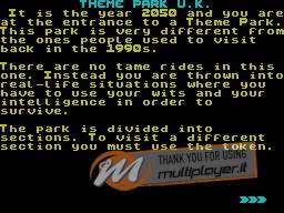 Theme Park U.K. per Sinclair ZX Spectrum