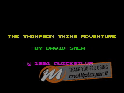 The Thompson Twins Adventure per Sinclair ZX Spectrum