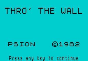 Thro' the Wall per Sinclair ZX Spectrum