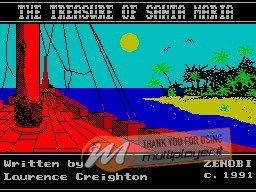 The Treasure of the Santa Maria per Sinclair ZX Spectrum
