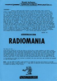 Radiomania per Sinclair ZX Spectrum