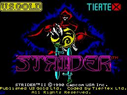 Strider 2 per Sinclair ZX Spectrum