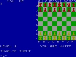 Super Chess 2 per Sinclair ZX Spectrum
