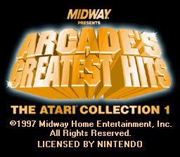 Arcade's Greatest Hits: The Atari Collection 1 per Super Nintendo Entertainment System