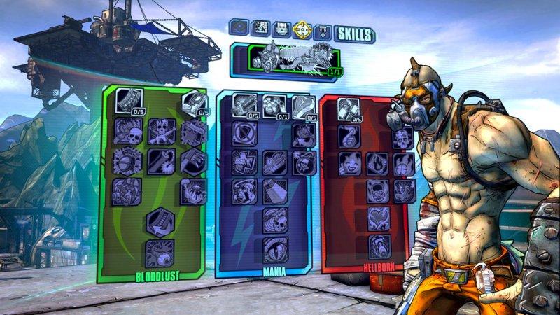 Borderlands 2 - Gli skill tree del nuovo Psycho Bandit