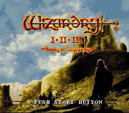 Wizardry I-II-III Story of Llylgamyn per Super Nintendo Entertainment System