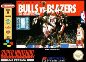 Bulls vs Blazers and the NBA Playoffs per Super Nintendo Entertainment System