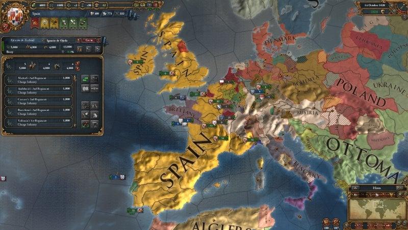 Sul trono d'Europa