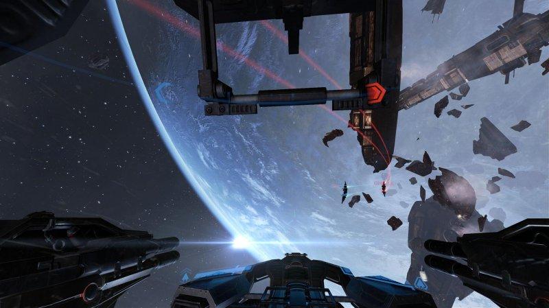 Combattimenti in realtà virtuale cross-platform per EVE Valkyrie