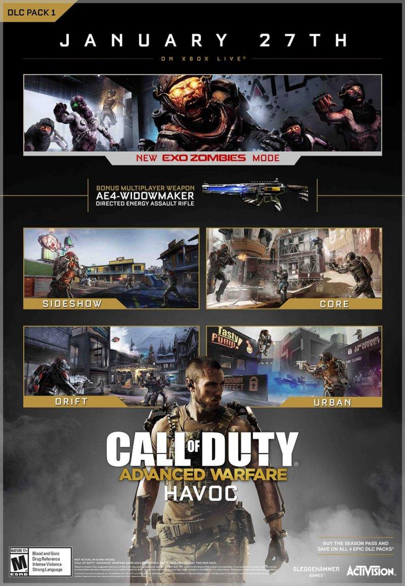 Il pacchetto Havoc per Call of Duty: Advanced Warfare sarà disponibile a partire dal 27 gennaio