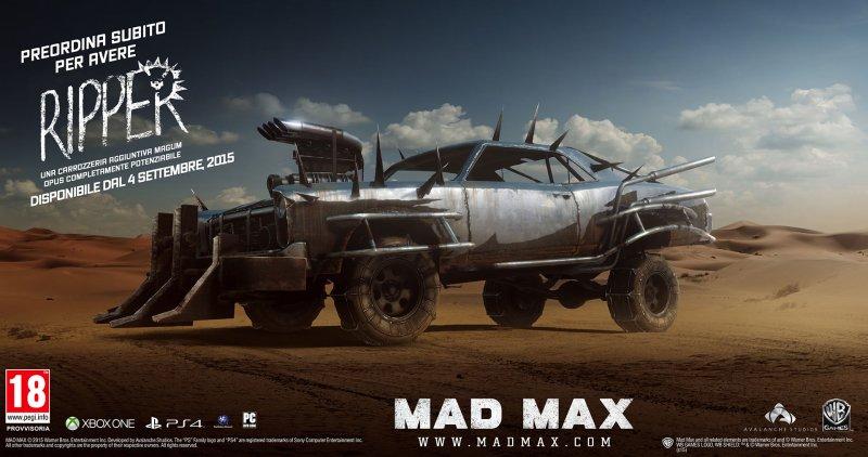 Mad Max uscirà il 4 settembre su PC, PlayStation 4 e Xbox One