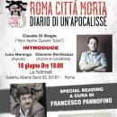 """Giovedì a Roma la presentazione di """"Roma Città Morta"""", ci sarà anche Francesco Pannofino"""