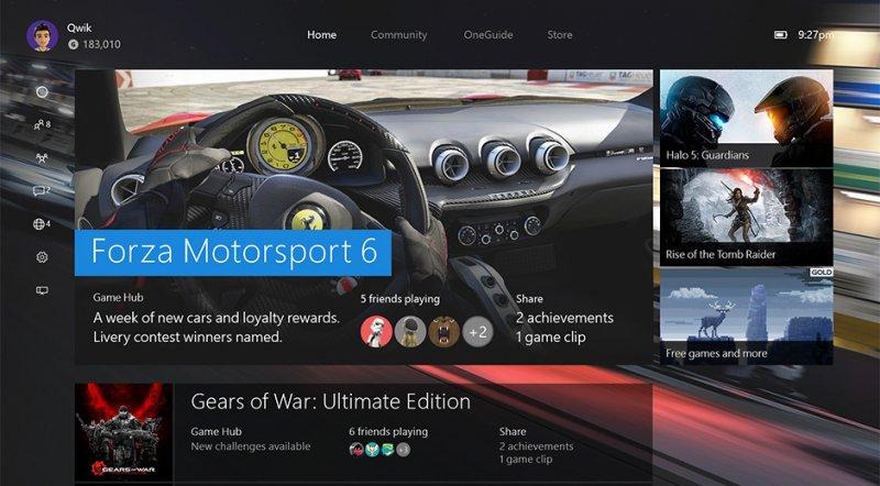 Un riepilogo delle caratteristiche della nuova dashboard di Xbox One in arrivo a novembre