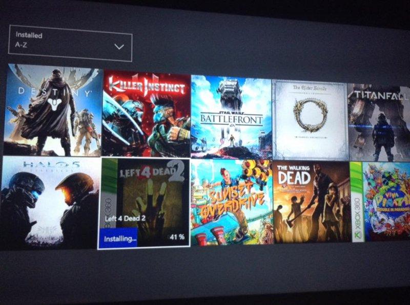 Qualcuno sta installando Left 4 Dead 2 su Xbox One