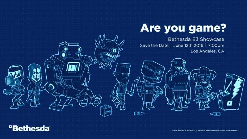 Bethesda annuncia la sua conferenza per l'E3 2016