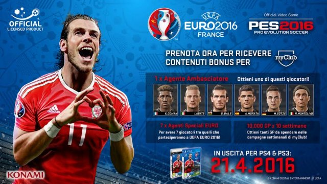 Pro Evolution Soccer 2016 (PES 2016): UEFA EURO 2016