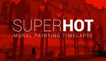 SUPERHOT - Video in timelapse sul dipinto murale