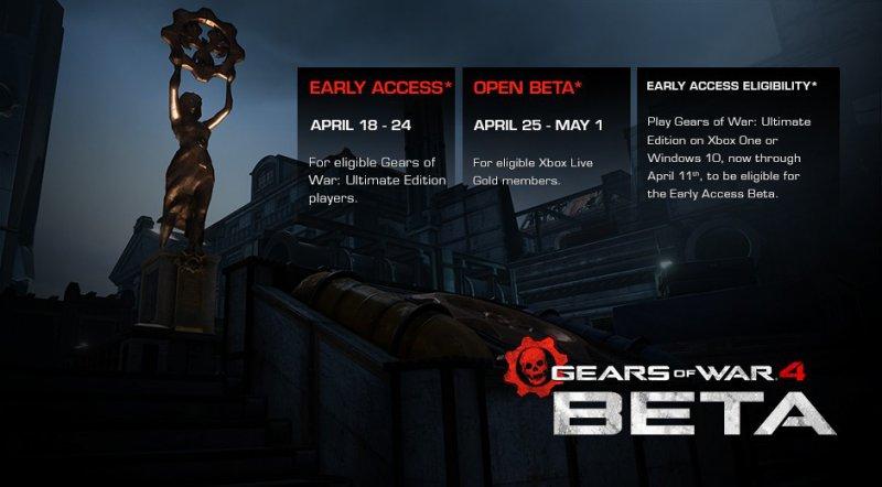 La beta multiplayer di Gears of War 4 parte il 18 aprile per gli acquirenti dell'Ultimate Edition
